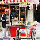 Chestnut Vendor in Faux Oil by Rob Chiarolli