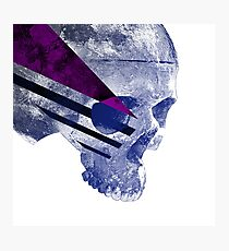 Purple Skull Photographic Print