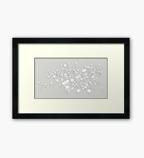 City chaos and order Framed Print
