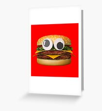 Googly-Eyed Hamburger Greeting Card