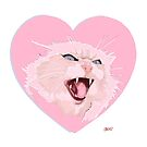 I love you so much! Valentines cat drawing. by Jason Edward Davis