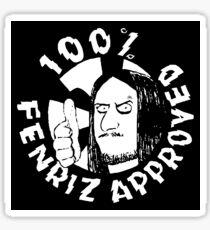 100% Fenriz Approved, Black Metal, Darkthrone Sticker