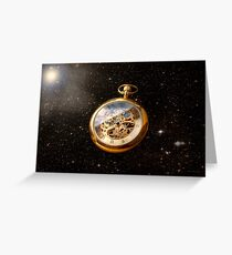Clockmaker - Space time Greeting Card