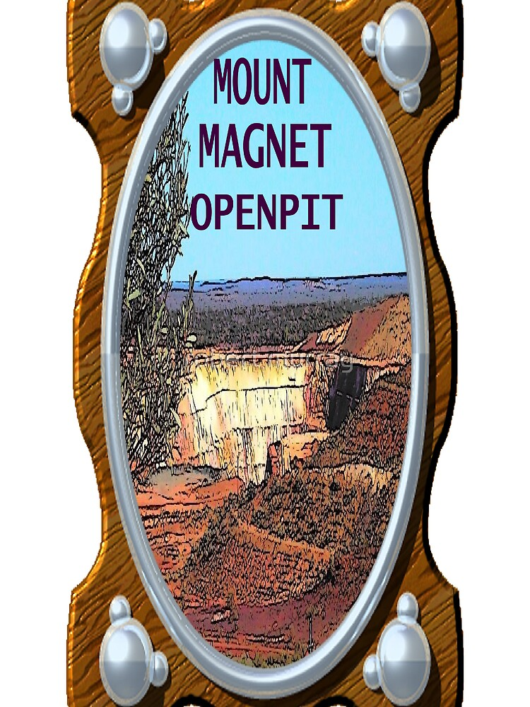 Mt Magnet open pit by treborbob