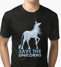 Save the Unicorns Tri-blend T-Shirt