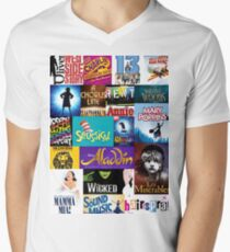 Broadway-Musicals T-Shirt mit V-Ausschnitt für Männer