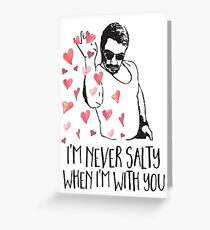 Salt Bae Valentines Day Card, Salt Bae Valentine, Salt Guy, Funny Meme Valentine Greeting Card