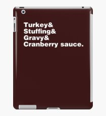 Thanksgiving Helvetica iPad Case/Skin