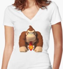Donkey Kong Country Women's Fitted V-Neck T-Shirt