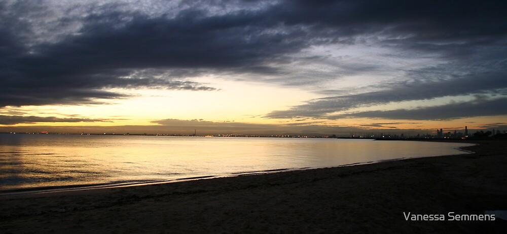 Brighton Sunset by Vanessa Semmens