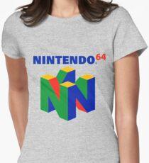 Camiseta entallada para mujer Logotipo de Nintendo 64