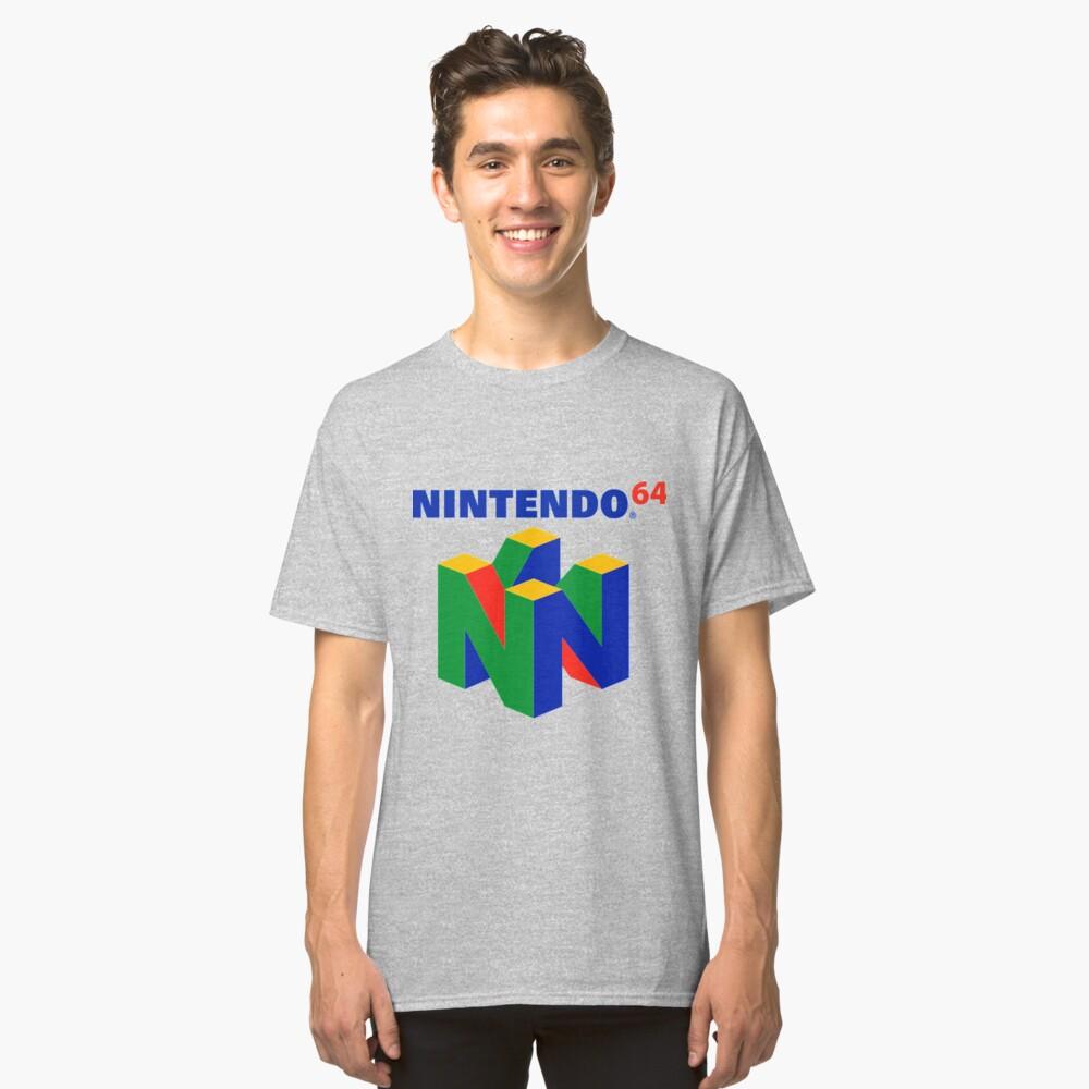 Nintendo 64 logo Classic T-Shirt Front