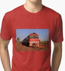 The Ghan train locomotive, Darwin Tri-blend T-Shirt