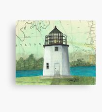 Stony Point Lighthouse NY Cathy Peek Nautical Chart Map Canvas Print