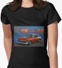 1956 Chevy Belair HDR Women's Fitted T-Shirt