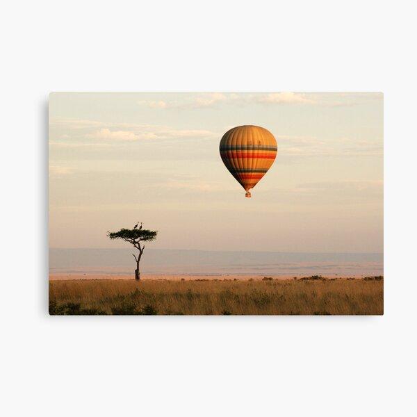 Dawn flight over the Masai Mara Canvas Print