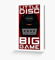 Little Disc, Big Game Greeting Card