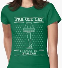 A Christmas Story, Fragile - It must be Italian Women's Fitted T-Shirt
