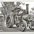 'Robey' steam traction engine in Thirlmere by George Petrovsky