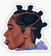 Bantu knots stickers redbubble bantu knot queen sticker thecheapjerseys Image collections