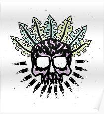Jungle Bullet Skull Poster