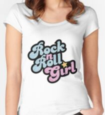 Rock n' Roll Girl Women's Fitted Scoop T-Shirt