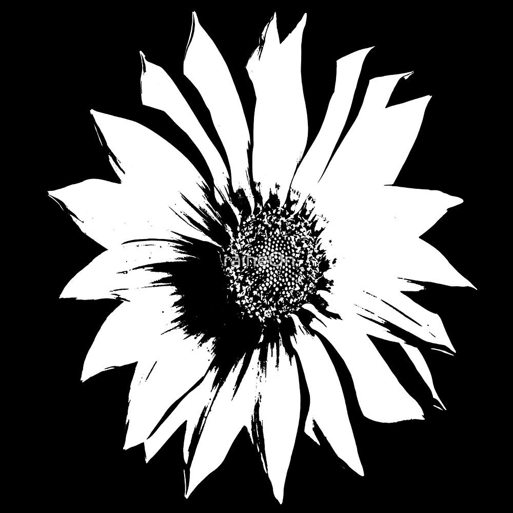 Black White Flower by raineOn