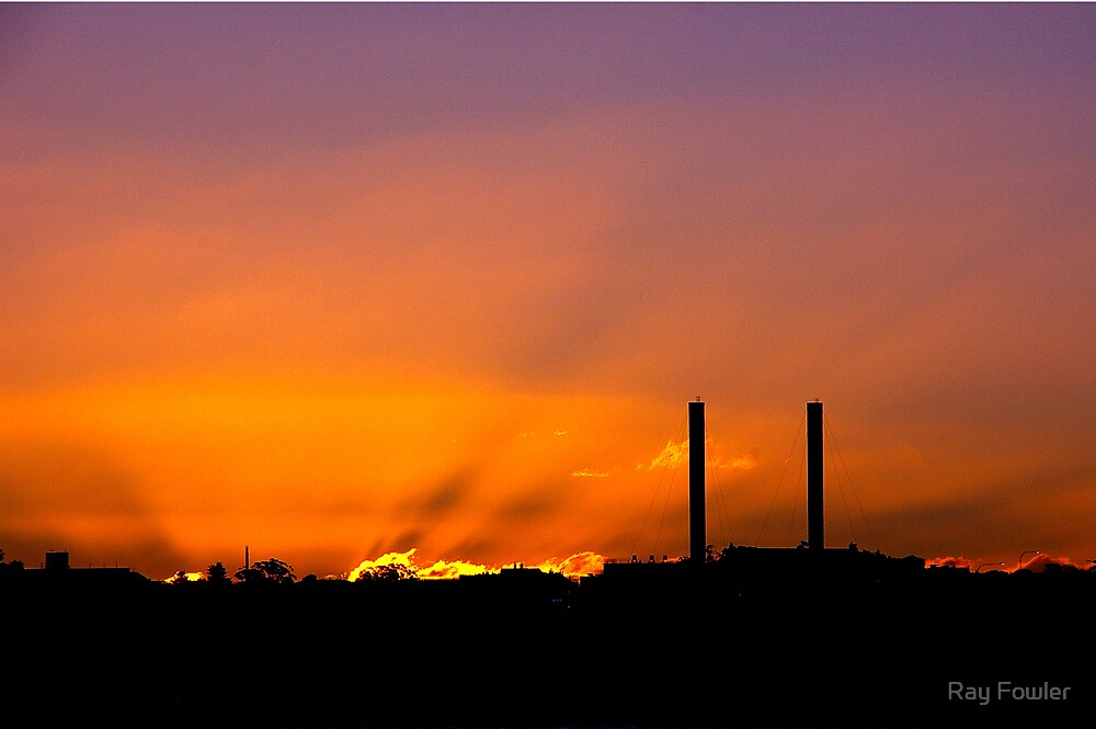 Industrial Sunset by Ray Fowler