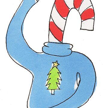 Christmas Cane Head by dorothyuranga