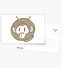 ATOMIC MONKEY STOOPID FACE Postcards