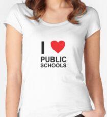 I Heart Public Schools - I Love Public Schools Women's Fitted Scoop T-Shirt
