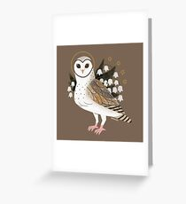 Familiar - Barn Owl Greeting Card