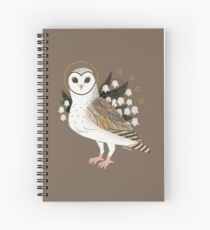 Familiar - Barn Owl Spiral Notebook