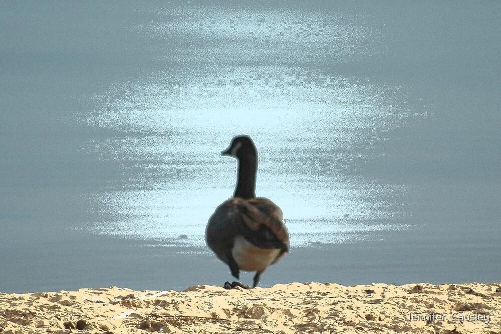 Beach Duck by Jennifer  Causley