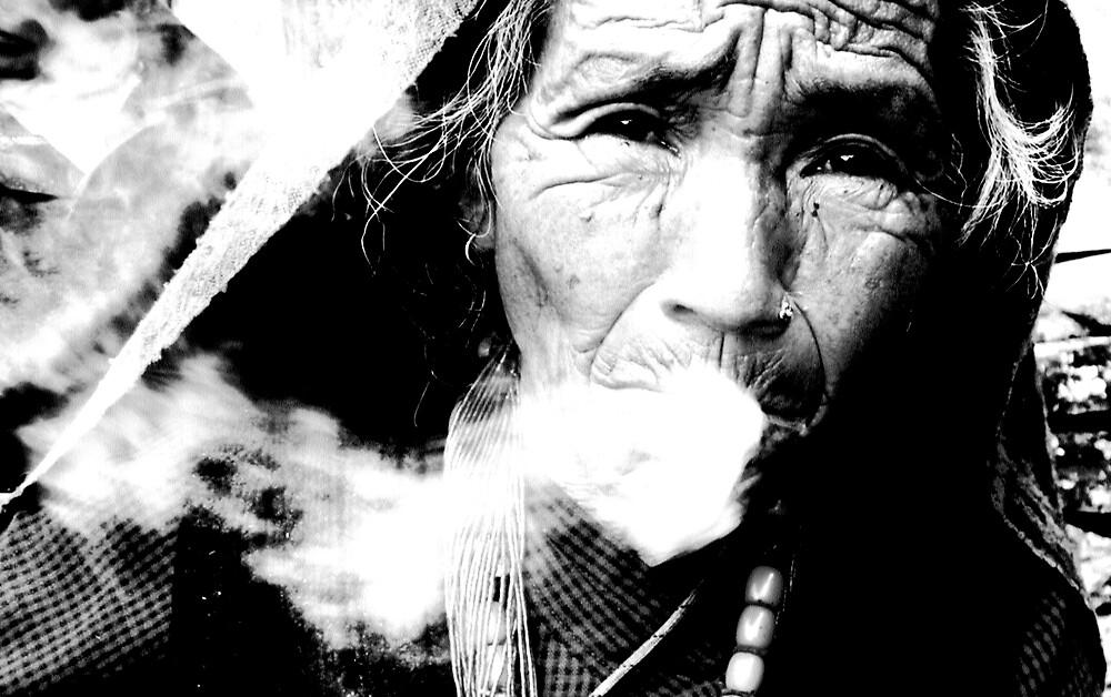 1 smoking lady by Sasha Mihalova