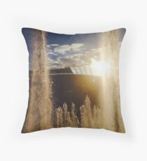 Kauffman Stadium Fountains Throw Pillow