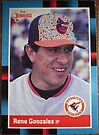 252 - Rene Gonzales by Foob's Baseball Cards