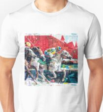 Abstract Race Horses Collage                                         Unisex T-Shirt