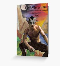 DeCONpression 12 Pan Double Down Greeting Card