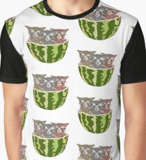 Watermelon Cats Graphic T-Shirt