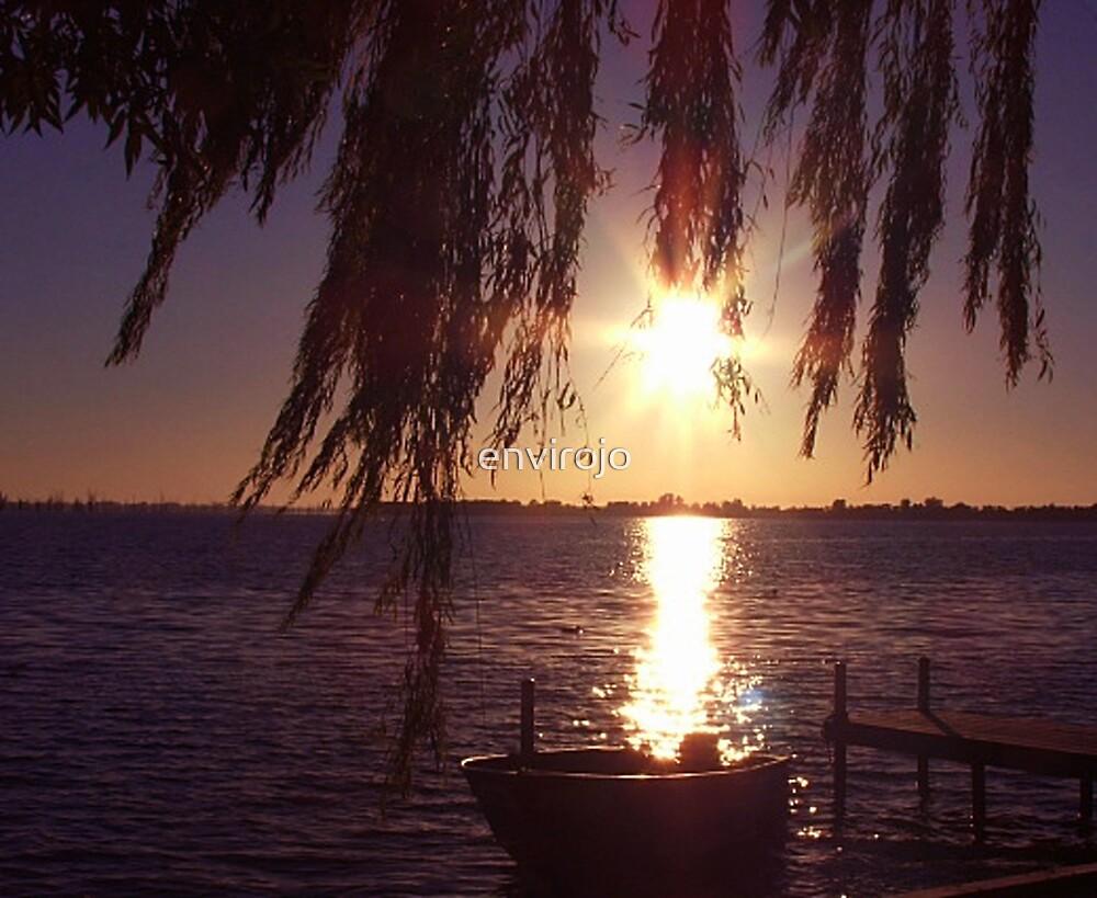 Boat in Sunset by envirojo