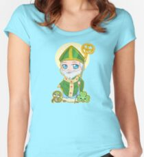 Chibi St. Patrick Women's Fitted Scoop T-Shirt
