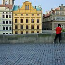 Morning on bridge in Prague by mypic