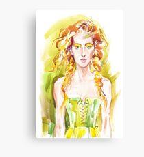A summer girl Canvas Print
