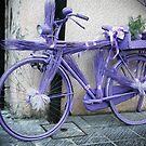 Purple bike in Faux Oil by Rob Chiarolli