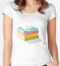 The Cat Loves Books Women's Fitted Scoop T-Shirt