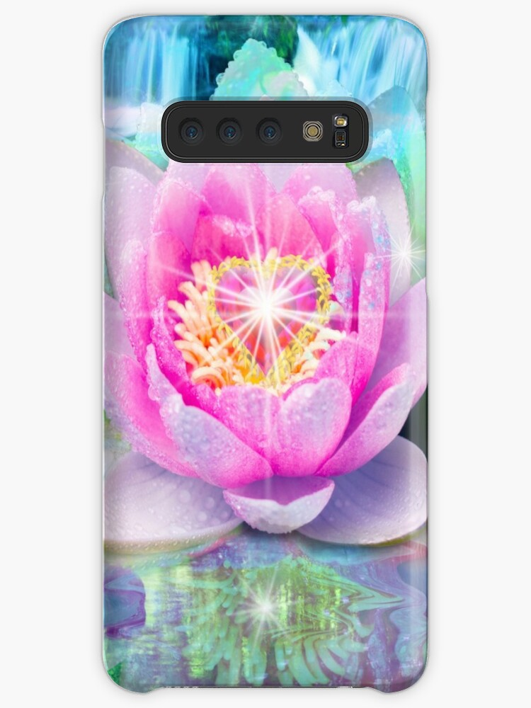 Lotus Flower Heart Cases Skins For Samsung Galaxy By Alixandra