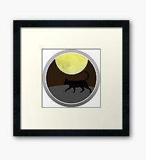 Cat Walk at Night Framed Print
