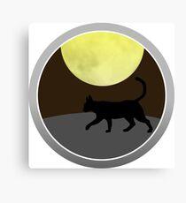 Cat Walk at Night Canvas Print