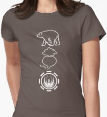 Bears. Beats. Battlestar Galactica Womens Fitted T-Shirt